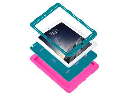 Rugged Impact Case for iPad Air 1st Gen - Pink/Teal
