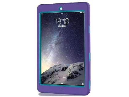 Rugged Impact Case for iPad Air 2 - Purple/Teal
