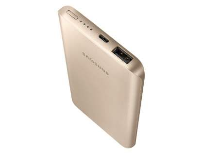 Genuine Samsung EB-PA500UFEGWW 5200mAh Slim Rechargeable Battery Pack - Gold