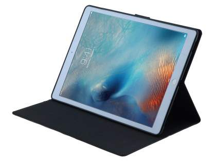Mercury Colour Fancy Diary Case with Stand for iPad Pro 12.9 - Classic Black