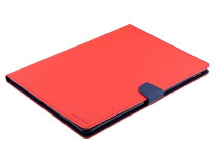 Mercury Colour Fancy Diary Case with Stand for iPad Pro 12.9 - Red/Navy