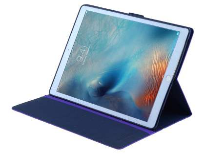 Mercury Colour Fancy Diary Case with Stand for iPad Pro 12.9 - Purple/Navy