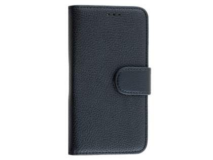 Synthetic Leather Wallet Case with Stand for Huawei Y5/Y560 - Classic Black