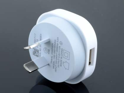 Genuine Huawei 1A AC Adaptor with USB Port - White