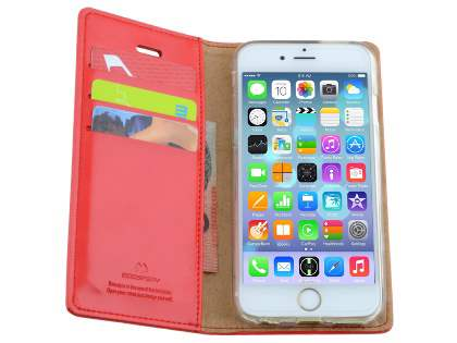 Mercury Blue Moon Wallet Case for iPhone 6s/6 4.7 inches - Red