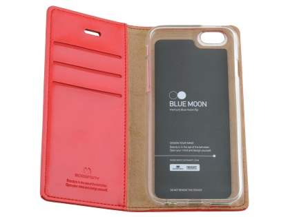 Mercury Blue Moon Wallet Case for iPhone 6s Plus / 6 Plus - Red
