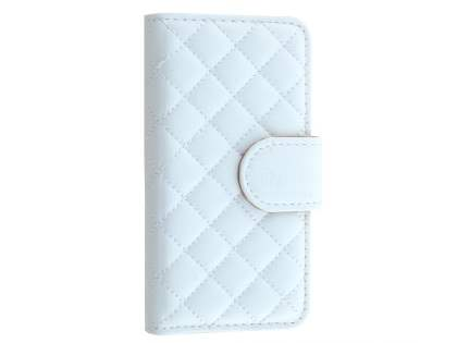 Synthetic Leather Wallet Case for iPhone SE/5s/5 - White Leather Wallet Case