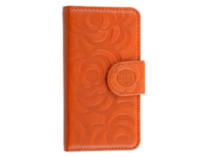 Synthetic Leather Wallet Case for iPhone SE/5s/5 - Orange Leather Wallet Case