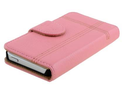 Synthetic Leather Wallet Case for iPhone SE/5s/5 - Pink