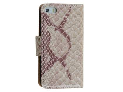 Snake Pattern Synthetic Leather Case for Apple iPhone SE/5s/5  - Snake pattern