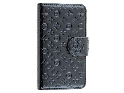 Synthetic Leather Wallet Case for Samsung Galaxy S4 - Black
