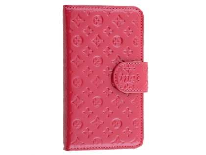 Synthetic Leather Wallet Case for Samsung Galaxy S4 - Hot Pink Leather Wallet Case