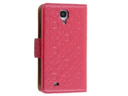Synthetic Leather Wallet Case for Samsung Galaxy S4 - Hot Pink