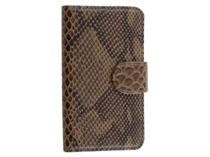 Snake Pattern Synthetic Leather Case for Samsung Galaxy S4 - Snake pattern Leather Wallet Case