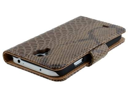 Snake Pattern Synthetic Leather Case for Samsung Galaxy S4 - Snake pattern