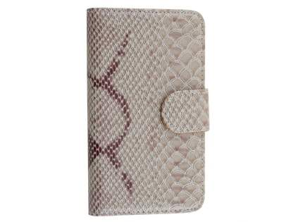 Snake Pattern Synthetic Leather Case for Samsung Galaxy S5 - Snake pattern Leather Wallet Case