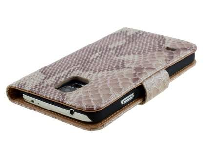 Snake Pattern Synthetic Leather Case for Samsung Galaxy S5 - Snake pattern