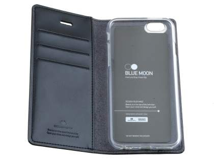 Mercury Goospery Blue Moon Wallet Case for iPhone 6s/6 - Classic Black