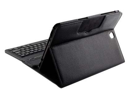 Synthetic Leather Bluetooth Keyboard Case for Samsung Galaxy Tab A 9.7 - Black