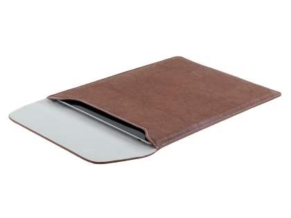 Synthetic Leather Slide-in Case for Tablets - Brown