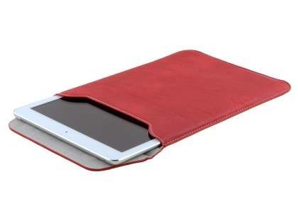 Synthetic Leather Slide-in Case for Tablets - Red