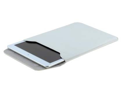 Synthetic Leather Slide-in Case for Tablets - Pearl White