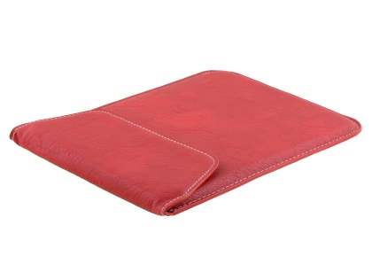 Synthetic Leather Slide-in Case for Tablets - Red Leather Slide-in Case