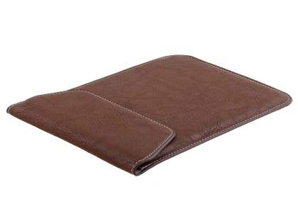 Synthetic Leather Slide-in Case for Tablets - Brown Leather Slide-in Case
