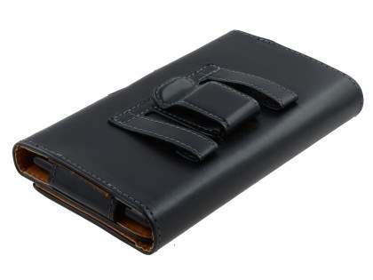 Synthetic Leather Belt Pouch for Huawei G7 - Black