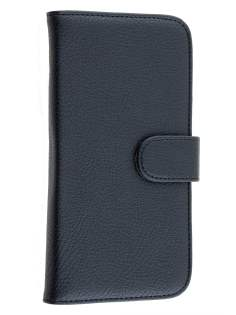 Huawei Ascend G7 Synthetic Leather Wallet Case with Stand - Classic Black