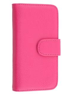 Samsung Galaxy J1 Synthetic Leather Wallet Case with Stand - Pink
