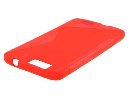 Wave Case for Huawei G7 - Frosted Red/Red
