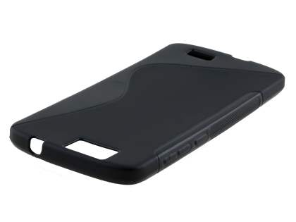 Wave Case for Huawei G7 - Frosted Black/Black Soft Cover