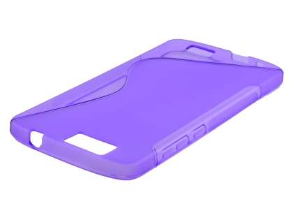 Wave Case for Huawei G7 - Frosted Purple/Purple Soft Cover