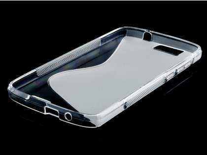 Wave Case for Huawei G7 - Frosted Clear/Clear