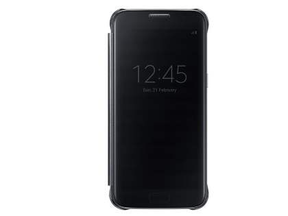 Genuine Samsung Galaxy S7 Clear View Cover - Clear Black S View Cover