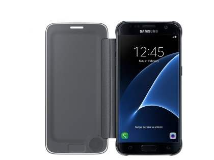 Genuine Samsung Galaxy S7 Clear View Cover - Clear Black