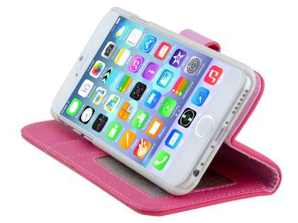 Synthetic Leather Wallet Case with Stand for iPhone 6s/6 4.7 inches - Hot Pink