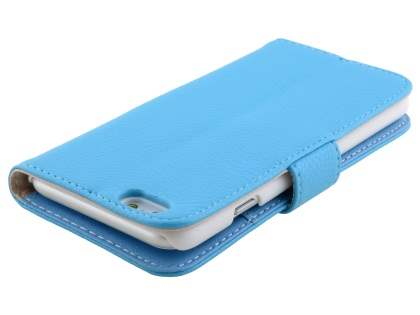 Synthetic Leather Wallet Case with Stand for iPhone 6s/6 4.7 inches - Sky Blue