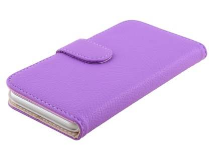 Synthetic Leather Wallet Case with Stand for iPhone 6s/6 4.7 inches - Light Purple