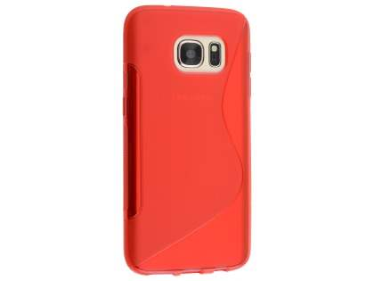 Wave Case for Samsung Galaxy S7  - Frosted Red/Red