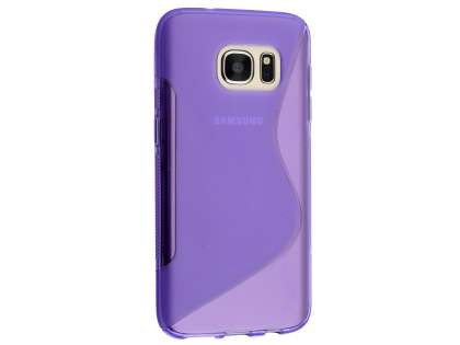 Wave Case for Samsung Galaxy S7 - Frosted Purple/Purple Soft Cover