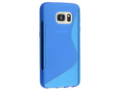 Wave Case for Samsung Galaxy S7 - Frosted Blue/Blue Soft Cover