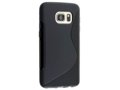 Wave Case for Samsung Galaxy S7 - Frosted Black/Black Soft Cover