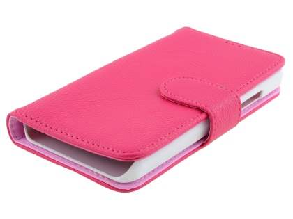 Slim Synthetic Leather Wallet Case with Stand for Microsoft Lumia 550 - Pink