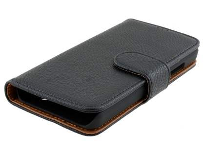 Slim Synthetic Leather Wallet Case with Stand for Microsoft Lumia 550 - Classic Black