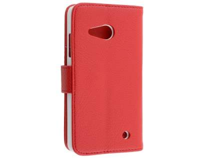 Slim Synthetic Leather Wallet Case with Stand for Microsoft Lumia 550 - Red Leather Wallet Case