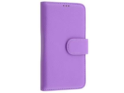 Slim Synthetic Leather Wallet Case with Stand for Microsoft Lumia 550 - Light Purple