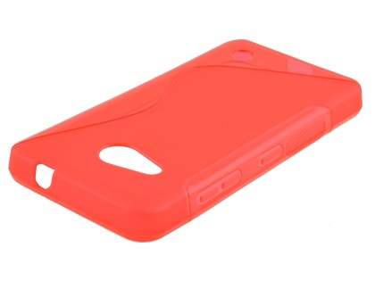 Wave Case for Microsoft Lumia 550 - Frosted Red/Red