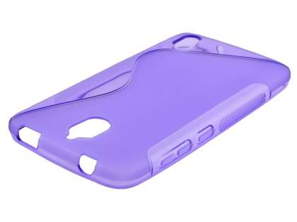 Wave Case for Huawei Y625 - Frosted Purple/Purple Soft Cover
